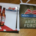 bud armed forces pennants-$10