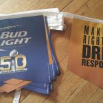 bud light superbowl 50 pennants-20'-$12