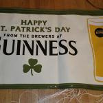 guiness blonde st.pats banner- 3x-$15