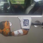 detroit tigers arm magnets-$10