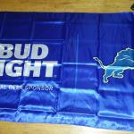 bud light lions 2 sided satin flag-3'x5'-$25