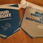 bud light detroit lions 2016 pennants-$8