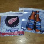 bud light red wings pennants-$10