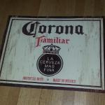 corona familiar tin-24x18-$15