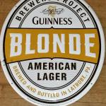 guinness blonde oval sign- 23x19-$10