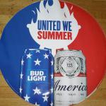 "bud-light united we summer fathead-24""-$5"