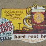 coney island rootbeer tin-18x12-$15