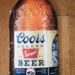 coors bottle tin-24x10-$15