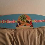 5 o'clock mini surfboard-24X6-$35