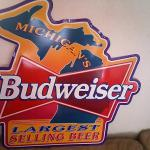 bud michigan tin-28x28-$35