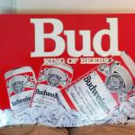 bud king of beers tin-35x26-$35