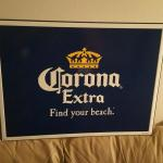 corona find your beach tin-24x18-$25