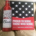 bud armed forces sign- 30x30-$30