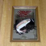 miller high life michigan trout mirror-22x16- $45