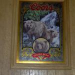 coors grizzly bear mirror-21x16-$45