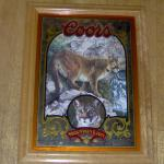 coors mountain lion mirror-21x16-$45