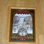 coors timber wolf mirror-21x16-$45